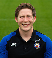 Conor Farrell of Bath Rugby poses for a portrait. Bath Rugby Media Day on August 14, 2018 at Farleigh House in Bath, England. Photo by: Patrick Khachfe / Onside Images