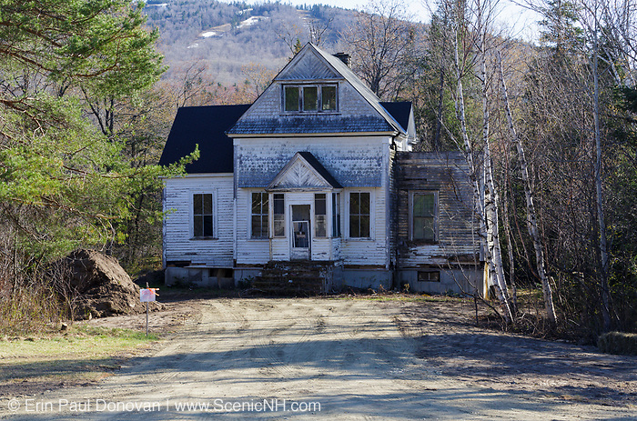 Abandoned house along Route 302 in Bretton Woods, New Hampshire USA. This is how the house looked in May of 2013 just before it was torn down.