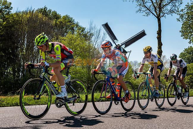 Breakaway with TJALLINGII, Maarten from the Netherlands of Team Lotto NL - Jumbo (NED) and AMEZQUETA Julen from Spain of Wilier - Southeast near the Wittebrinksemolen at Hummelo with 130 km to go, stage 3 from Nijmegen to Arnhem running 190 km of the 99th Giro d'Italia (UCI WorldTour), The Netherlands, 8 May 2016. Photo by Pim Nijland / PelotonPhotos.com | All photos usage must carry mandatory copyright credit (Peloton Photos | Pim Nijland)