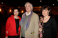 Montreal (Qc) CANADA, November 1st 2007-<br /> <br /> EMMANUELLE DEVOS, the CINEMANIA 2007 film festival<br /> Honorary President(L) together with Bertrand Tavernier (M) and the director and actress Anne Le Ny (R) will present the North American premiere of their film CEUX QUI RESTENT<br /> <br /> photo : Pierre Roussel (c)  Images Distribution