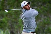 Harold Varner III (USA) watches his tee shot on 7 during round 3 of the Valero Texas Open, AT&amp;T Oaks Course, TPC San Antonio, San Antonio, Texas, USA. 4/22/2017.<br /> Picture: Golffile | Ken Murray<br /> <br /> <br /> All photo usage must carry mandatory copyright credit (&copy; Golffile | Ken Murray)