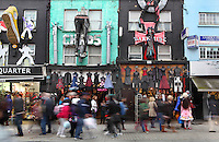 Camden Town High Street's shops and visitors, London, UK. Picture by Manuel Cohen