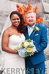 Fiona Osilaja, daughter of Nazarene & Segun Osilaja, London and Donal O'Connell, son of John & Noreen O'Connell, Coolaclarig, Listowel who were married in St. Mary's Church, Listowel on Saturday last by Fr. Sean Sheehy assisted by Deacon Sean Jones. The best man was Dan Leahy and the groomsman was Stephen Kennelly. The bridesmaids were Eunice Demetrius & Louise Twycross-Lewis. The flowergirl was Clodagh O'Connor and the page boy was Darren O'Connor. The reception was held in the Listowel Arms Hotel and the coouple will live in London.