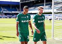 11th July 2020; The Kiyan Prince Foundation Stadium, London, England; English Championship Football, Queen Park Rangers versus Sheffield Wednesday; Alessio da Cruz of Sheffield Wednesday walking with Julian Borner of Sheffield Wednesday towards the away tunnel at half time