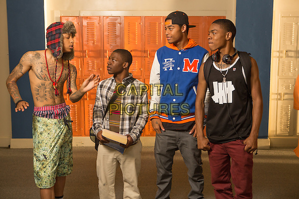 School Dance (2014) <br /> The Rangers (Julian Alexander Goins, Langston Higgins and Dashawn Blanks) and Jason Jackson (Bobb'e J. Thompson, center)<br /> *Filmstill - Editorial Use Only*<br /> CAP/KFS<br /> Image supplied by Capital Pictures