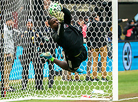 WASHINGTON, DC - FEBRUARY 29: Bill Hamid #24 of DC United makes a save during a game between Colorado Rapids and D.C. United at Audi Field on February 29, 2020 in Washington, DC.