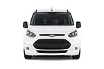Car photography straight front view of a 2015 Ford Transit Connect Trend 5 Door Minivan Front View