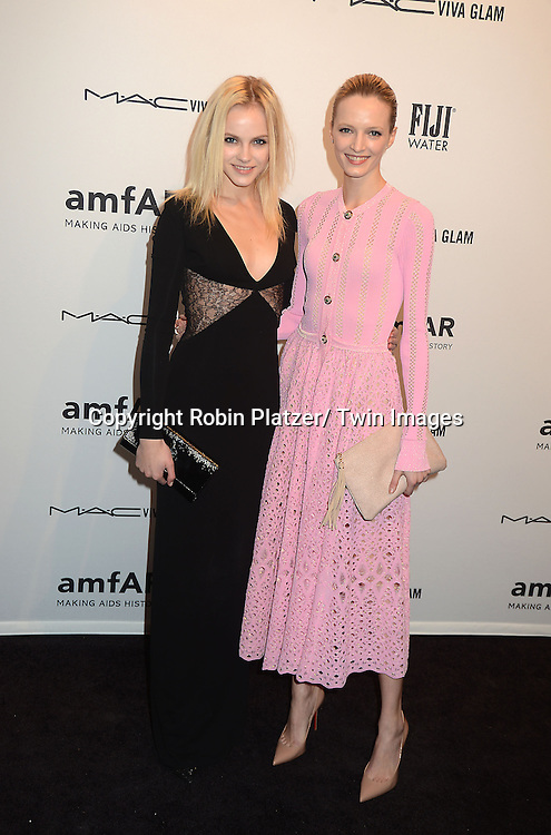 Gina Lapina and Daria Strolous attends the amfAR New York Gala to kick off Fashion Week on February 6, 2013 at Cipriani Wall Streetin New York City. The honorees were Heidi Klum, Janet Jackson  and Kenneth Cole.