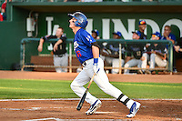 Jimmy Allen (16) of the Ogden Raptors at bat against the Missoula Osprey in Pioneer League action at Lindquist Field on August 4, 2014 in Ogden, Utah.  (Stephen Smith/Four Seam Images)