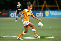 Atlanta defender, Annalisa Marquez (23), brings the ball down.  The Philadephia Independence battled theAtlanta Beat to a scoreless draw on June 4th at Widener University in Chester, PA.