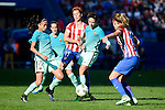 Atletico de Madrid Priscila Borja and Carmen Menayo and FC Barcelona Andrea Gimenez and Sandra Hernandez during match of La Liga Femenina between Atletico de Madrid and FC Barcelona at Vicente Calderon Stadium in Madrid, Spain. December 11, 2016. (ALTERPHOTOS/BorjaB.Hojas)