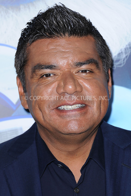 WWW.ACEPIXS.COM . . . . . .July 24, 2011...New York City....George Lopez attends the premiere of 'The Smurfs' at the Ziegfeld Theater on July 24, 2011 in New York City....Please byline: KRISTIN CALLAHAN - ACEPIXS.COM.. . . . . . ..Ace Pictures, Inc: ..tel: (212) 243 8787 or (646) 769 0430..e-mail: info@acepixs.com..web: http://www.acepixs.com .