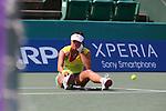 Ayumi Morita (JPN), .OCTOBER 8, 2012 - Tennis : .HP japan Women's Open Tennis 2012, .Women's Singles first round match .at Utsubo Tennis Center, Osaka, Japan. .(Photo by Akihiro Sugimoto/AFLO SPORT) [1080]