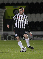 Sean Kelly in the St Mirren v Dundee Clydesdale Bank Scottish Premier League Under 20 match played at St Mirren Park, Paisley on 14.1.13.