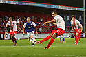 Filipe Morais of Stevenage scores their first goal from the penalty spot<br />  Stevenage v Ipswich Town - Capital One Cup First Round - Lamex Stadium, Stevenage - 6th August, 2013<br />  © Kevin Coleman 2013
