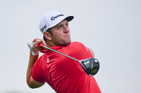 Jon Rahm (ESP) watches his tee shot on 3 during round 4 of the Shell Houston Open, Golf Club of Houston, Houston, Texas, USA. 4/2/2017.<br /> Picture: Golffile | Ken Murray<br /> <br /> <br /> All photo usage must carry mandatory copyright credit (&copy; Golffile | Ken Murray)