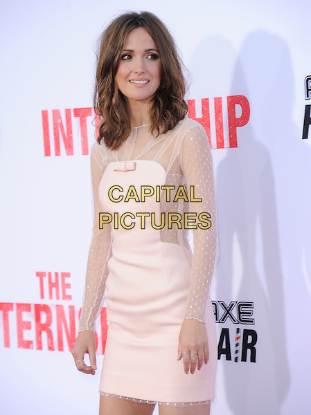 Rose Byrne<br /> &quot;The Internship&quot; Los Angeles Premiere held at the Regency Village Theatre, Westwood, California, USA.<br /> May 29th, 2013<br /> half length white cream sheer dress <br /> CAP/RKE/DVS<br /> &copy;DVS/RockinExposures/Capital Pictures