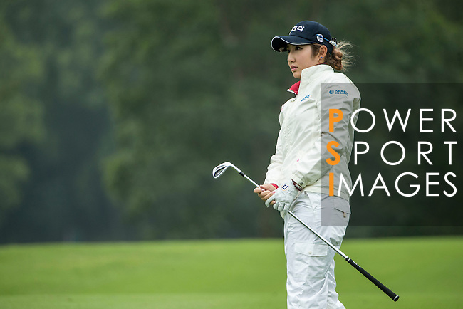 Seon Woo Bae of South Korea plays a second shot at the 14th hole during Round 2 of the World Ladies Championship 2016 on 11 March 2016 at Mission Hills Olazabal Golf Course in Dongguan, China. Photo by Victor Fraile / Power Sport Images