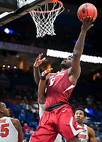 NWA Democrat-Gazette/CHARLIE KAIJO Arkansas Razorbacks guard Jaylen Barford (0) shoots a layup during the Southeastern Conference Men's Basketball Tournament quarterfinals, Friday, March 9, 2018 at Scottrade Center in St. Louis, Mo.