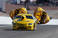 Apr. 5, 2009; Las Vegas, NV, USA: NHRA pro stock driver Jeg Coughlin after winning the Summitracing.com Nationals at The Strip in Las Vegas. Mandatory Credit: Mark J. Rebilas-
