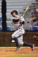 Danville Braves left fielder Justin Black #11 swings at a pitch during a game against the Johnson City Cardinals at Howard Johnson Field September 4, 2014 in Johnson City, Tennessee. The Braves defeated the Cardinals 6-1. (Tony Farlow/Four Seam Images)