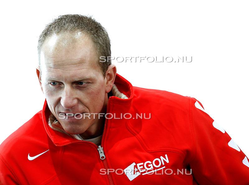 Duitsland, Berlijn. 8 februari 2008 .WK schaatsen allround 2008 .Training .Rintje Ritsma van Nederland