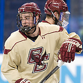 Mark Begert (BC - 5) - The Boston College Eagles practiced on Wednesday, April 4, 2012, during the 2012 Frozen Four at the Tampa Bay Times Forum in Tampa, Florida.