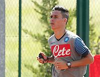 Napoli Calcio ritiro precampionato a Dimaro ( TN)  18 Luglio 2014<br /> nella foto   Jose Callejon