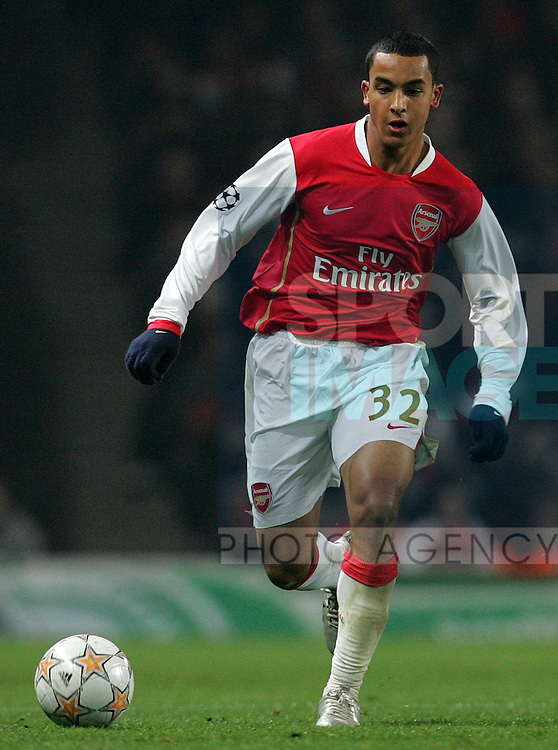 Arsenal's Theo Walcott during their UEFA Champions League, Group H football match, at the Emirates Stadium, London, 12th December 2007.
