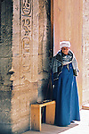 A guardian of the temple at Abu Simbel. Note the size of the door key on the bench next to him.