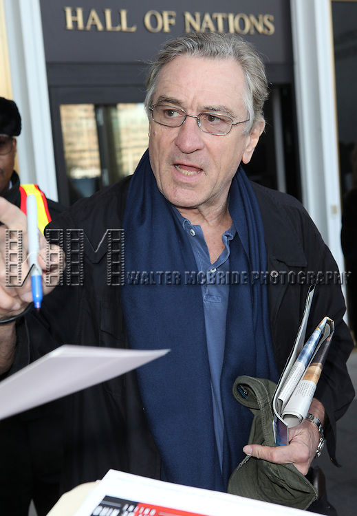 Robert De Niro & Fans attending the Rehearsals for the 35th Kennedy Center Honors at Kennedy Center in Washington, D.C. on December 2, 2012