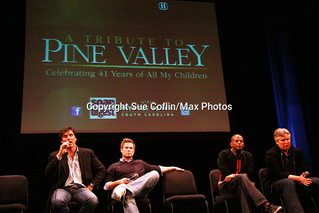 Vincent Irizarry - Jacob Young - Darnell Williams - Michael E. Knight - A Tribute to Pine Valley - celebrating 41 years of All My Children on October 26, 2011 at the State Theatre, New Brunswick, New Jersey. (Photo by Sue Coflin/Max Photos)