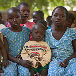 Children attend Catholic Mass in Gidel, a village in the Nuba Mountains of Sudan. The area is controlled by the Sudan People's Liberation Movement-North, and frequently attacked by the military of Sudan.