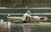 Lucerne, SWITZERLAND<br /> <br /> AUS M1X. Rhys GRANT. Semi Final A/B.2016 European Olympic Qualifying Regatta, Lake Rotsee.<br /> <br /> Monday  23/05/2016<br /> <br /> [Mandatory Credit; Peter SPURRIER/Intersport-images]