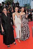 """CANNES, FRANCE. May 24, 2019: Amira Casar, Stacy Martin & Huang Lu  at the gala premiere for """"Sybil"""" at the Festival de Cannes.<br /> Picture: Paul Smith / Featureflash"""