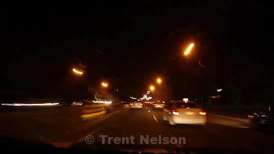 blur of lights driving ; 9.07.2007