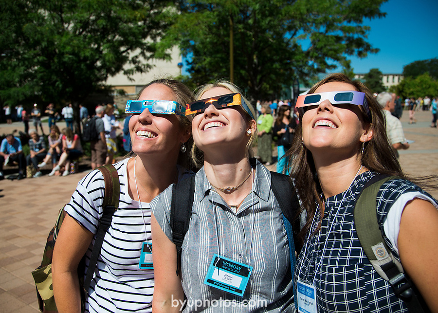 1708-56 110<br /> 1708-56 Solar Eclipse on Campus<br /> <br /> Solar Eclipse on Campus<br /> <br /> <br /> August 21, 2017<br /> <br /> Photography by Madeline Mortensen/BYU<br /> <br /> &copy; BYU PHOTO 2011<br /> All Rights Reserved<br /> photo@byu.edu  (801)422-7322