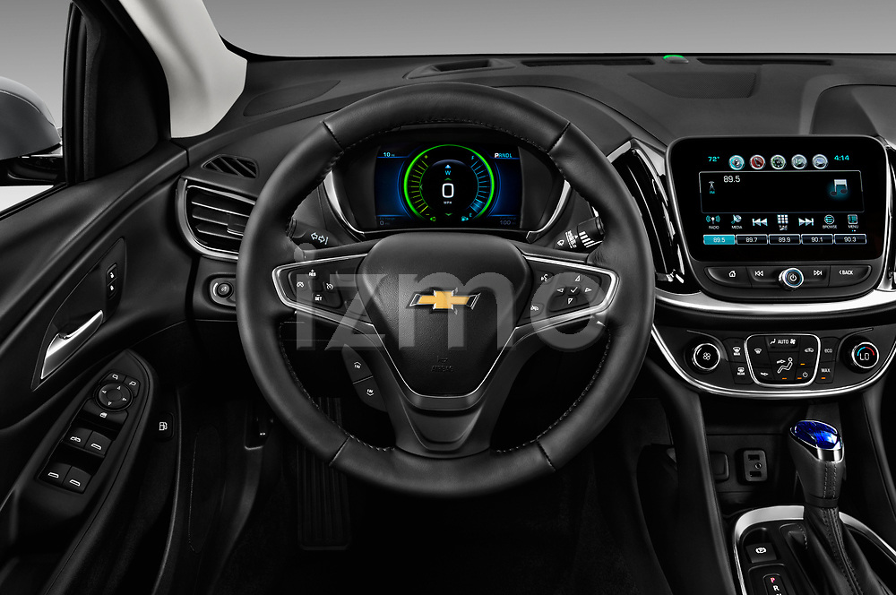 Car pictures of steering wheel view of a 2018 Chevrolet Volt LT 5 Door Hatchback Steering Wheel