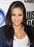 """LOS ANGELES, CA - OCTOBER 04: Francia Raisa arrives at the launch of """"Just Dance 3"""" at The Beverly on October 4, 2011 in Los Angeles, California."""