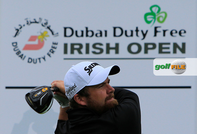 Shane Lowry (IRL) on the 13th tee during Tuesday's Practice round of the Dubai Duty Free Irish Open Trophy at The K Club, Straffan, Co. Kildare<br /> Picture: Golffile | Thos Caffrey<br /> <br /> All photo usage must carry mandatory copyright credit <br /> (&copy; Golffile | Thos Caffrey)