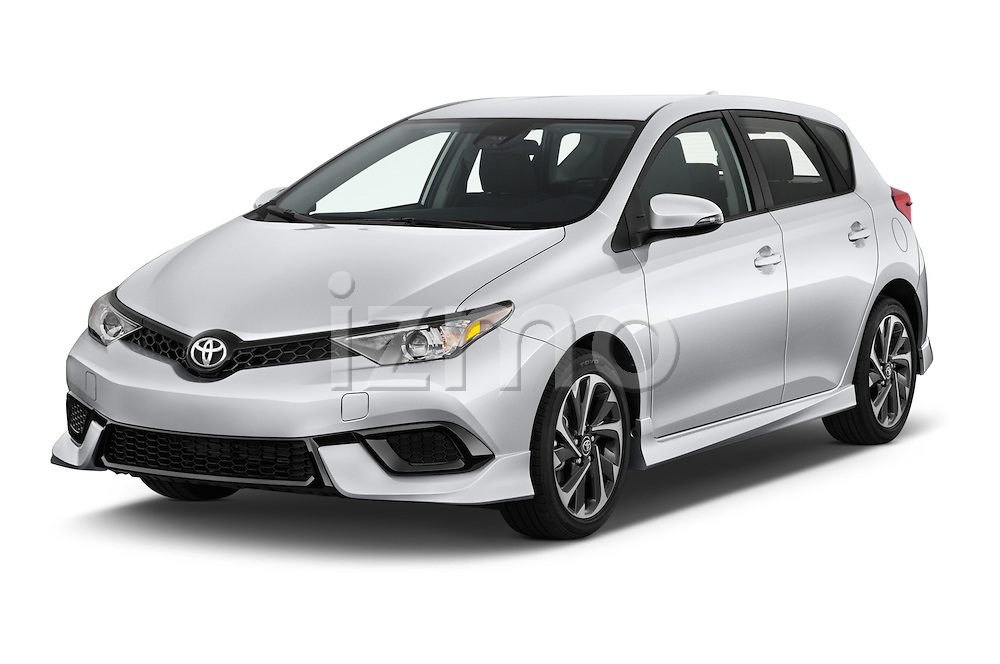 2017 Toyota Corolla-iM CVT-Automatic 5 Door Hatchback Angular Front stock photos of front three quarter view