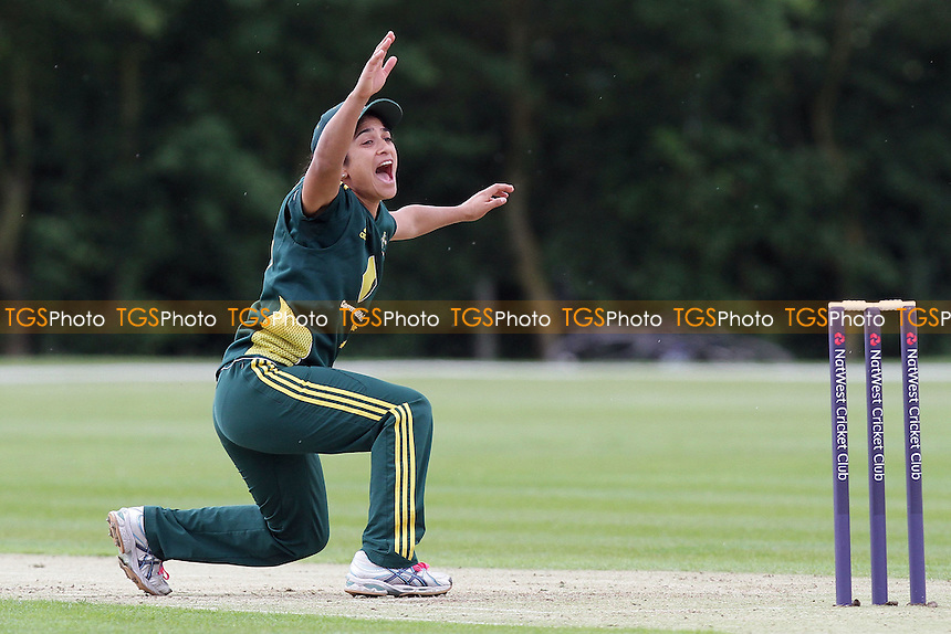 Lisa Sthalekar of Australia appeals successfully for the wicket of Amita Sharma - Australia Women vs India Women - NatWest Women's Quadrangular T20 Series Cricket at Billericay Cricket Club - 23/06/11 - MANDATORY CREDIT: Gavin Ellis/TGSPHOTO - Self billing applies where appropriate - Tel: 0845 094 6026