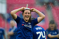 Erin Cuthbert of Chelsea Ladies celebrates her side's victory <br /> <br /> Photographer Craig Mercer/CameraSport<br /> <br /> The SSE Women's FA Cup Final - Arsenal Women v Chelsea Ladies - Saturday 5th May 2018 - Wembley Stadium - London<br />  <br /> World Copyright &copy; 2018 CameraSport. All rights reserved. 43 Linden Ave. Countesthorpe. Leicester. England. LE8 5PG - Tel: +44 (0) 116 277 4147 - admin@camerasport.com - www.camerasport.com