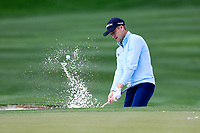 Russell Knox (SCO) in the 9th green side bunker during the 3rd round of the Waste Management Phoenix Open, TPC Scottsdale, Scottsdale, Arisona, USA. 02/02/2019.<br /> Picture Fran Caffrey / Golffile.ie<br /> <br /> All photo usage must carry mandatory copyright credit (&copy; Golffile | Fran Caffrey)