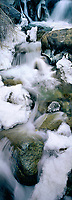 920000001 panoramic view of frozen first falls below middle palisades glacier in the eastern sierras near big pine california