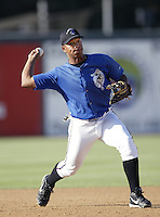 Jose Lopez of the San Bernardino Stampede before a California League 2002 season game at San Manuel Stadium, in San Bernardino, California. (Larry Goren/Four Seam Images)