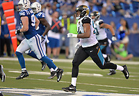 Jacksonville Jaguars rookie defensive end Dawuane Smoot (94) against the Indianapolis Colts in a NFL game Sunday, October 22, 2017 in Indianapolis, IN.  (Rick Wilson/Jacksonville Jaguars)