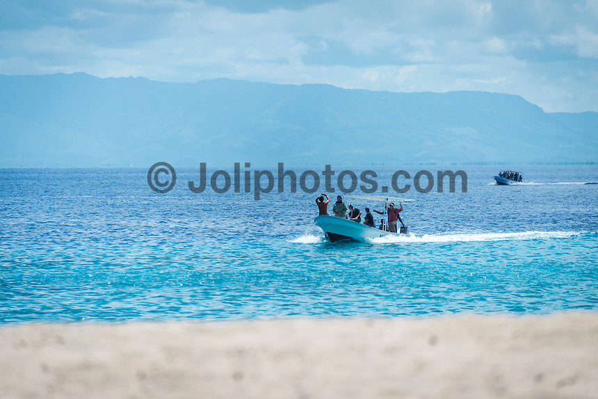 Namotu Island Resort, Fiji. Saturday January 31 2015) - The surf was in the 2' range for most of the day with the guests splitting themselves between SUPing at Namotu Lefts, surfing at Wilkes Passage and going fishing. The fishing boat was out twice today with success in the morning hooking up a 73 kg Yellow Fin tuna and the in the afternoon catching some Mahi Mahi, Skipjack Tuna and a Sailfish. The Sailfish was tagged and released. Photo: joliphotos.com