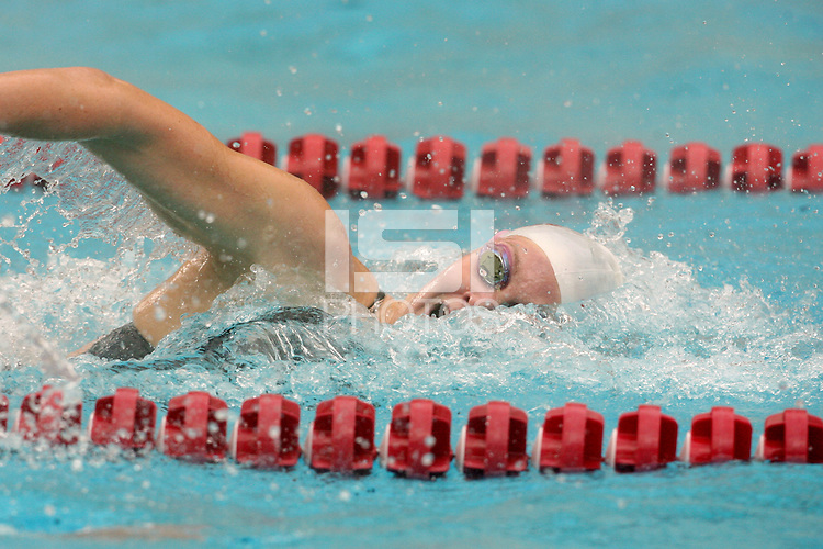 STANFORD, CA - JANUARY 22:  Kate Dwelley of the Stanford Cardinal during Stanford's 173-125 win over Arizona on January 22, 2010 at the Avery Aquatic Center in Stanford, California.