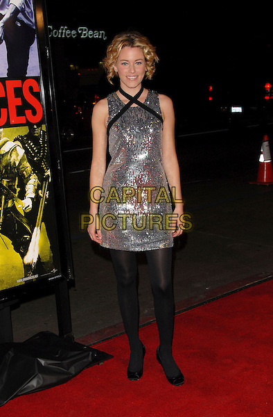 ELIZABETH BANKS.The Universal Pictures' World Premiere of Smokin' Aces held at The Grauman's Chinese Theatre in Hollywood, California on.January 18th, 2007.full length dress silver sequins sequined black straps tights.CAP/DVS.©Debbie VanStory/Capital Pictures